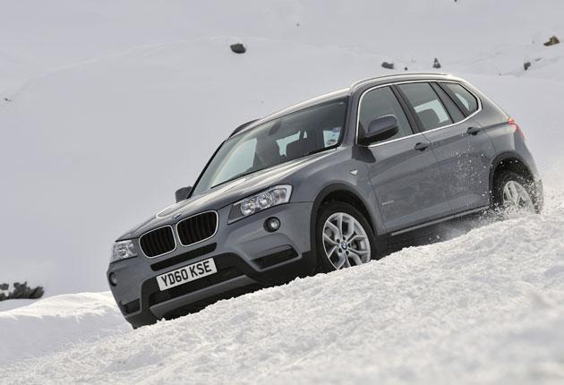 No Skidding: Winter tyres used on the test drive prove more useful in snow than four-wheel drive