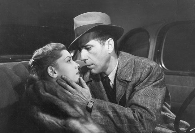 Humphrey Bogart with Lauren Bacall in The Big Sleep
