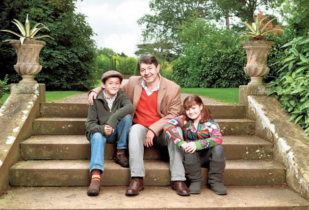 Fall guy: Nigel Pargetter (played by Graham Seed), here with son Freddie (Jack Firth) and daughter Lily (Georgie Feller), was at the centre of  The Archers'  60th anniverary action