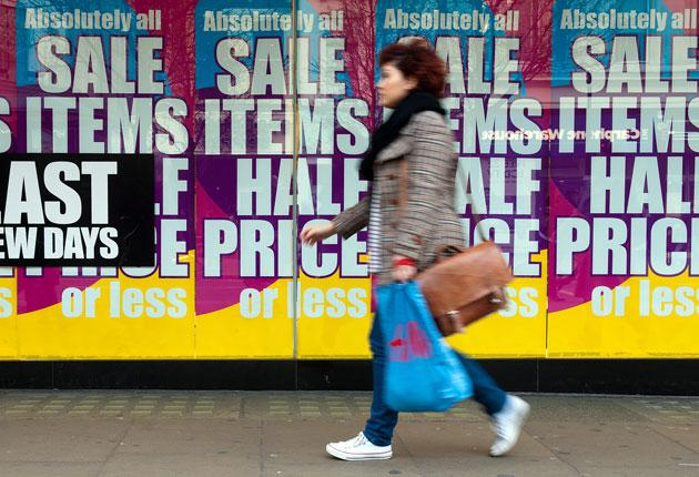 Many people took advantage of the last day of the lower VAT rate to pick up cheaper items