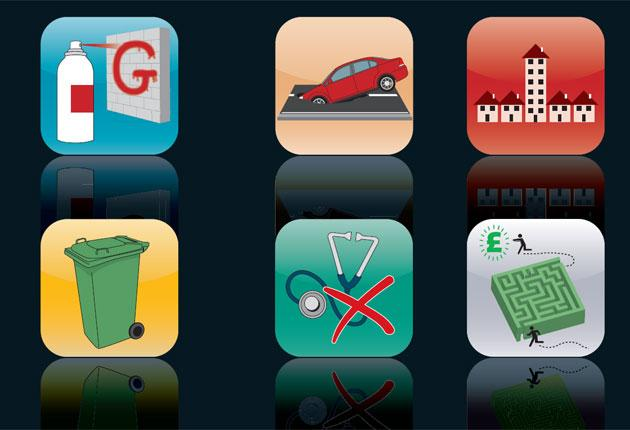 Helpful apps which include FixMyStreet, Frontline SMS, Ushadi, Patient Opinion and Mentor Well