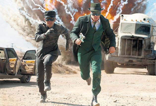 Ka-pow: Seth Rogen with Jay Chou in The Green Hornet