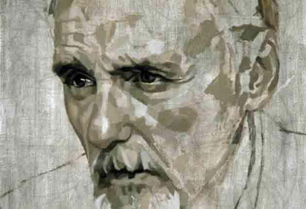 Painting of Dennis Hopper by British artist Johnny Yeo