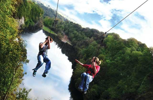 Double the fun: Adrenalin Quarry's twin wires