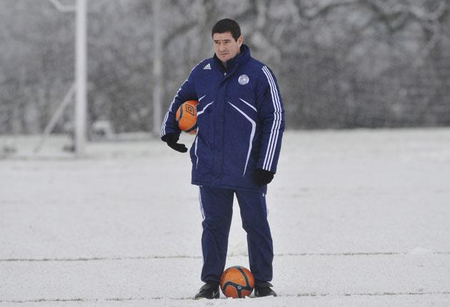 'To lose to your local rivals in the manner we did was hurtful,' says Nigel Clough, pictured at Derby training on Friday