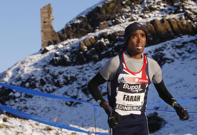 Mo Farah beats sub-zero temperatures and the field in Edinburgh