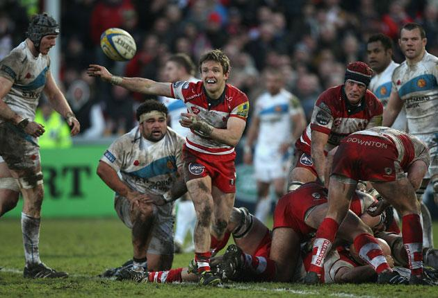 Rory Lawson gets Gloucester on the attack against Exeter
