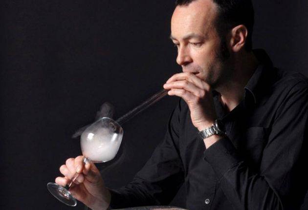 Air of the dog? Harvard professor David Edwards enjoys a Le Whaf 'drink'