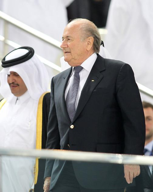 Blatter has been attending the Asia Cup