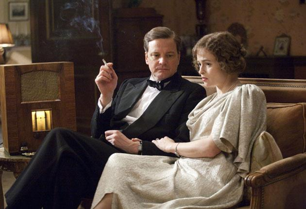 Colin Firth, as King George VI, and Helena Bonham Carter in The King's Speech