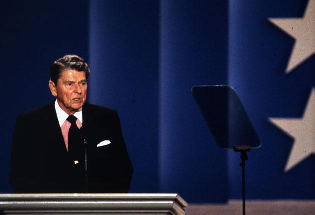Former US president Ronald Reagan in 1992, three years after he left office. He was diagnosed with Alzheimer's two years later, but is now said to have shown signs as early as 1984