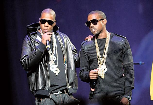 Going for gold: Jay-Z and Kanye West