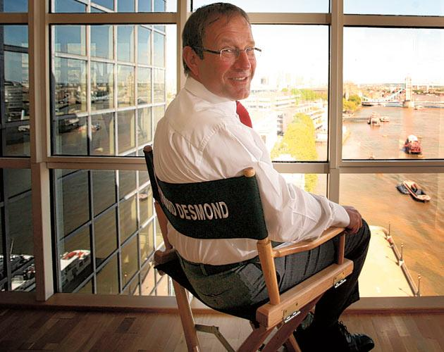 Cometh the man: Richard Desmond, owner of Express Newspapers, in his London office