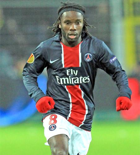 Peguy Luyindula (above) of Paris St-Germain could join West Ham if Benni McCarthy leaves for QPR