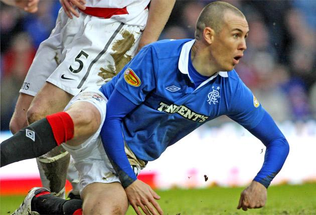 Should Kenny Miller, above, leave Rangers for Bursaspor the club hope Nikica Jelavic will fill the departing striker's boots