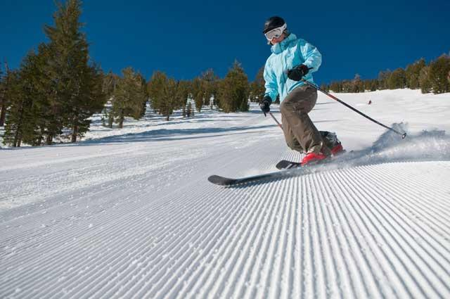 Perfectly groomed: a lot of skill and effort goes into creating a pristine piste