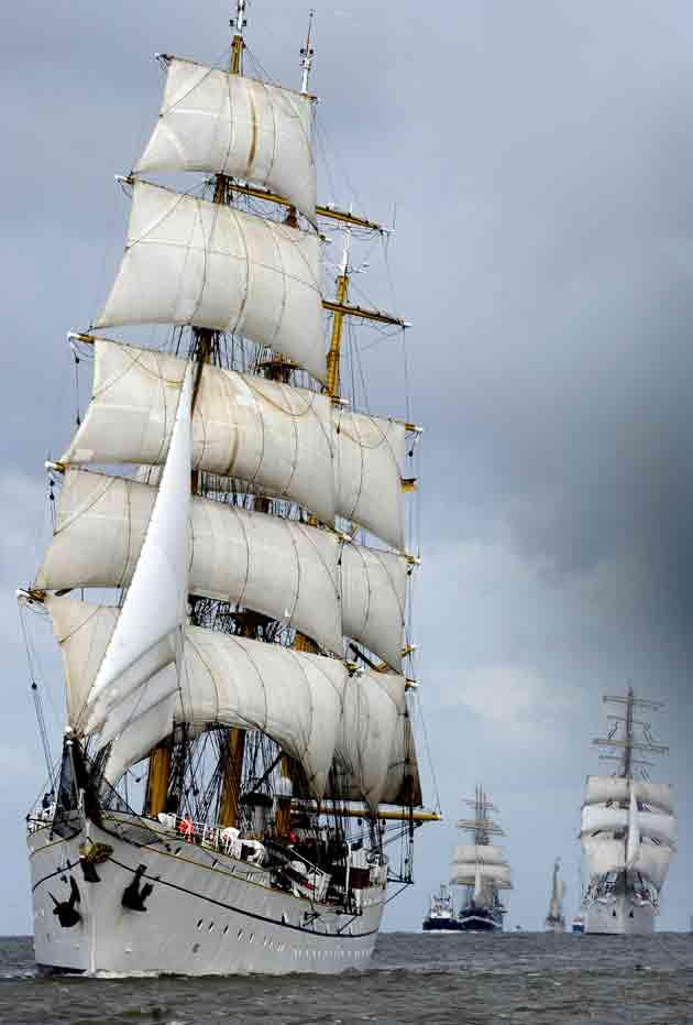 Germany's sail-training ship, Gorch Fock, where a 25-year-old officer-cadet was killed in an 80ft fall from a mast