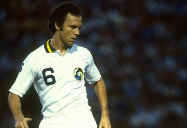 'Tell him to get his ass up front' Franz Beckenbauer playing - at the back - for New York Cosmos in 1978