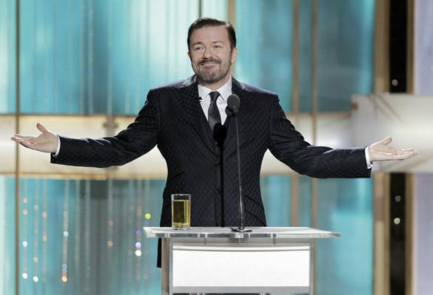 Innocent abroad? Ricky Gervais at last week's Golden Globes