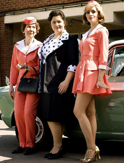 Ruth Jones (centre) as 'the nation's favourite fat girl', Hattie Jacques
