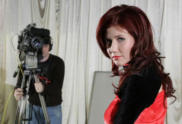 Former spy Anna Chapman on the set of her new TV show, more 'Brass Eye' than 'Panorama'
