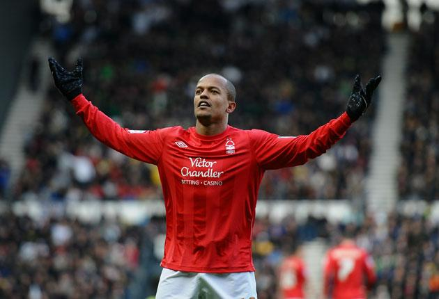 Robert Earnshaw's goal gave Nottingham Forest their first win at Pride Park