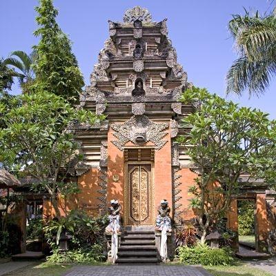 Gates at Ubud Palace, Bali, Indonesia