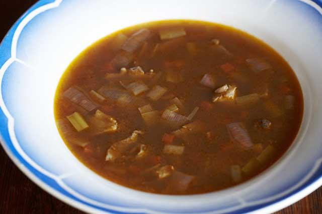 Hearty: Game carcasses are perfect for making soup