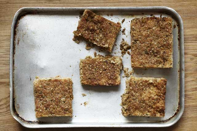 Sweet snack: Freekeh and honey slices