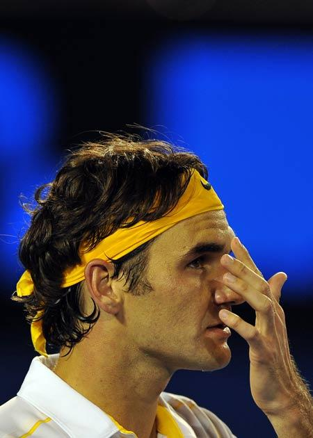 Federer went out in straight sets