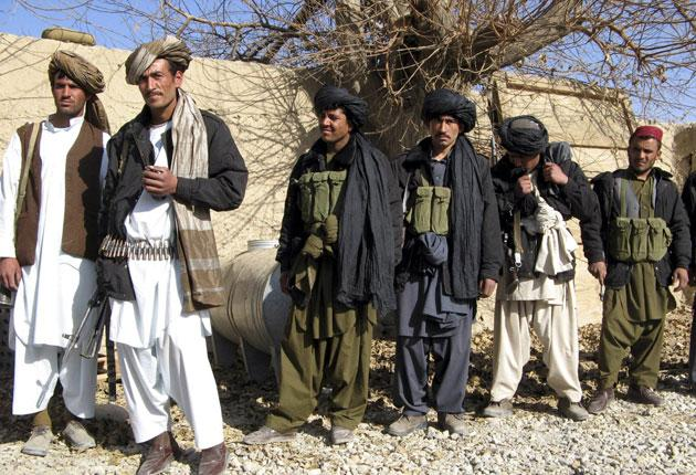 Insurgents in Sangin who switched sides and joined the government earlier this month