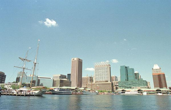 The Inner Harbour is now the first stop of every visitor to Baltimore