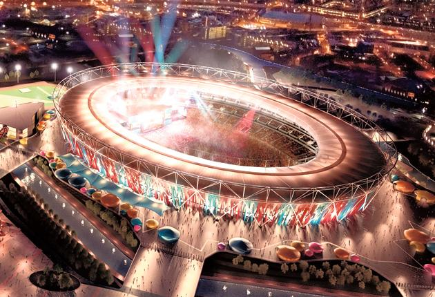 West Ham's projection of how the Olympic Stadium will look when they take over in 2014