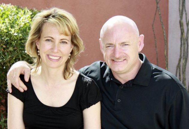 Gabrielle Giffords and her husband Mark Kelly, a Nasa astronaut