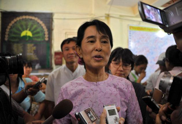 Burmese democracy campaigner Aung San Suu Kyi was released from house arrest last year