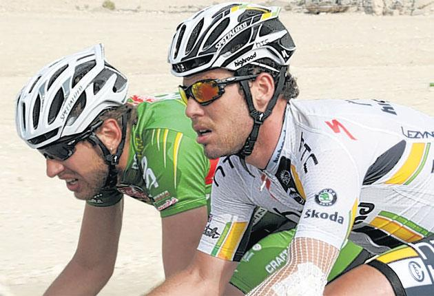 Mark Cavendish copes with injuries during the Tour of Qatar