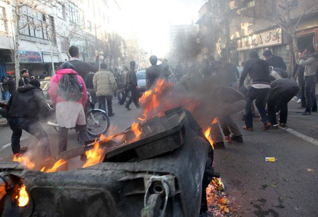 Iranian protesters gathered for the first time since December 2009