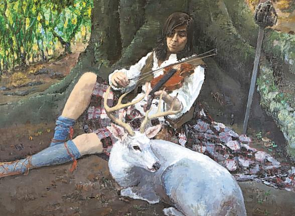 Highland string: Qi Xing's 'As If James Macpherson Ever Played Fiddle to a White Stag' is sweetly melancholy faux-Romanticism