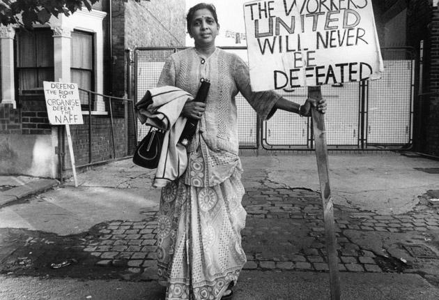 Reluctant star: Desai in 1977, a year into the strike at Grunwick