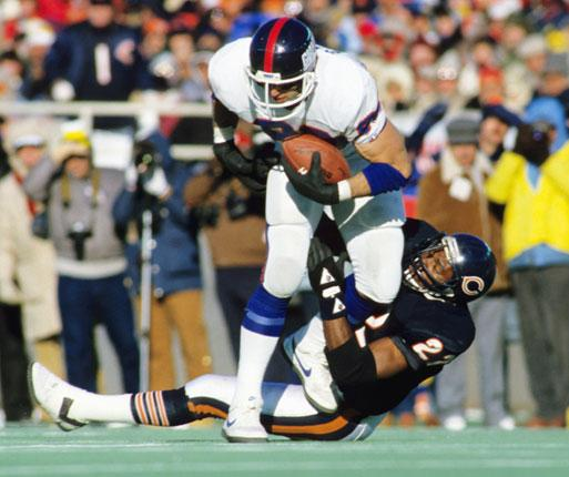 Dave Duerson tackling for the Chicago Cubs in 1986