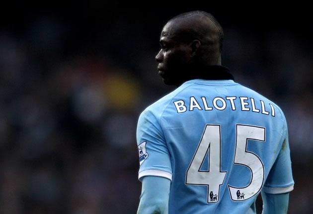 Mario Balotelli was frustrated with himself as he left the field on Sunday