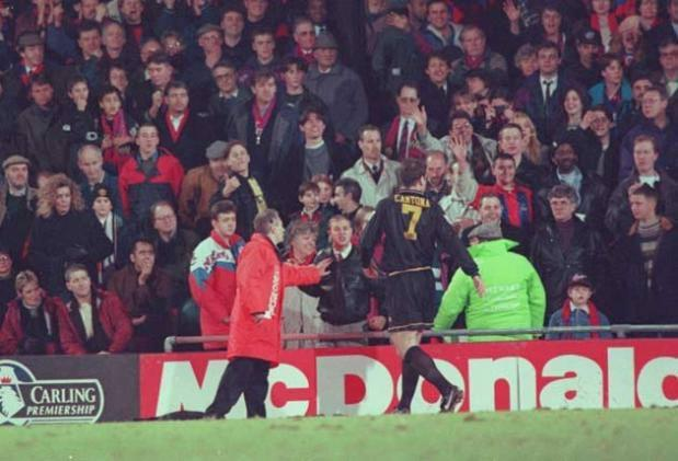 <b>Eric Cantona</b><br/> Probably the most famous case of a footballer losing it. Manchester United forward Eric Cantona was incensed by abuse from fans as he headed to the dressing after being sent off against Crystal Palace in 1995. So the Frenchman lau