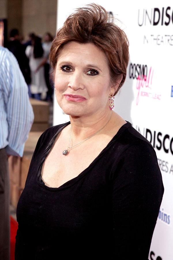 Fisher says: I Googled myself recently and someone had posted on a website: 'Whatever happened to Carrie Fisher? She used to be so hot and now she looks like Elton John'