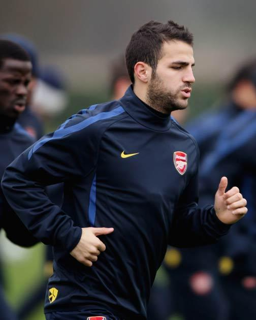 Fabregas is in a race to be fit for Sunday's final