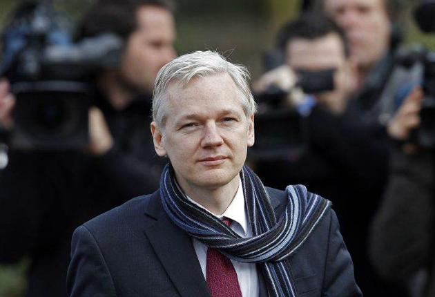 Julian Assange, the WikiLeaks founder, after yesterday's court ruling