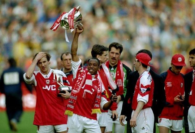 Under George Graham, Arsenal tasted League Cup success twice; against Liverpool in 1987 and Sheffield Wednesday in 1993 (pictured)