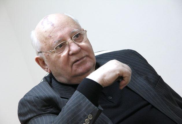 'The world is changed by idealists. I may be a few years older, but I still believe that,' says Gorbachev