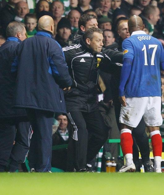 Neil Lennon and Ally McCoist were involved in ugly scenes on the touchline
