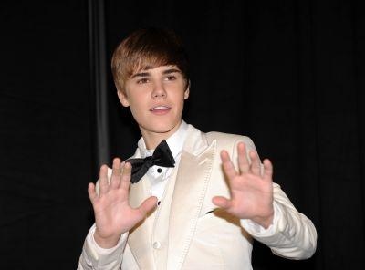 Justin Bieber at the 53rd annual Grammy Awards in Los Angeles