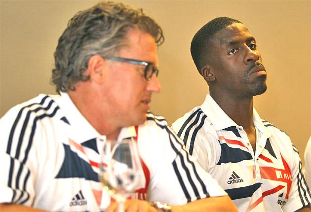 GB head coach Charles van Commenee (left) wants a 'home scalp' in France from 60m man Dwain Chambers